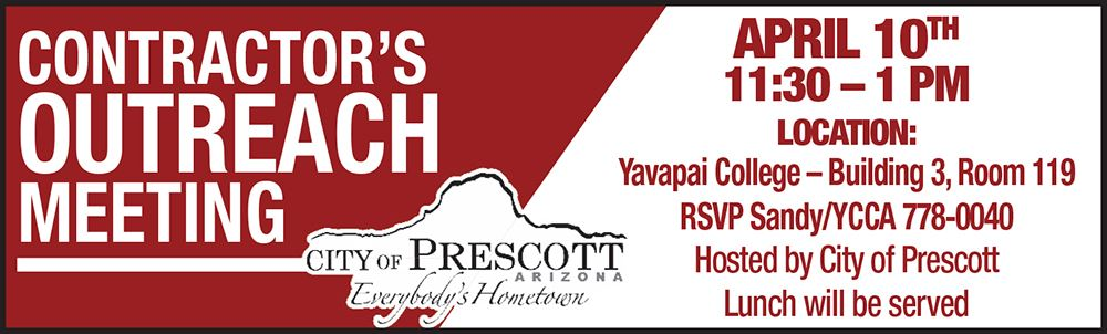 Yavapai County Contractors Association - Contractor's Outreach Meeting