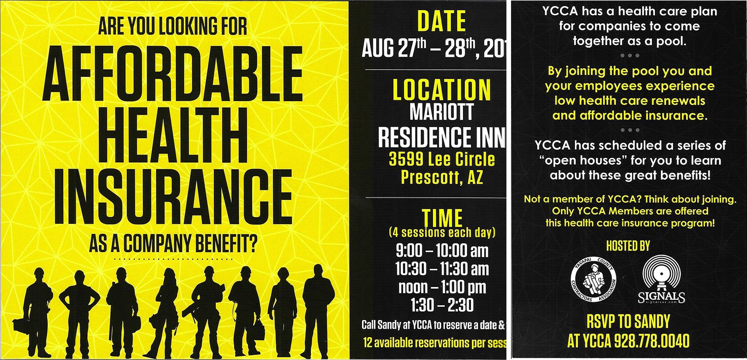 Yavapai County Contractors Association - Affordable Health